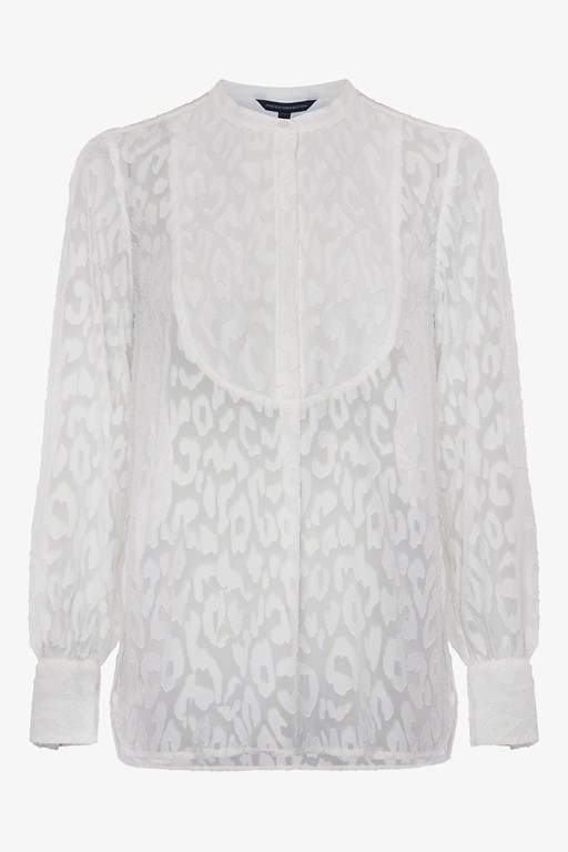 Complete the Look Asante Sheer Fil De Coupe Blouse