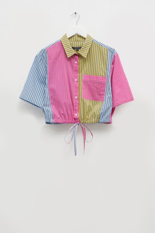Complete the Look Ayami Colourblock Stripe Cropped Shirt