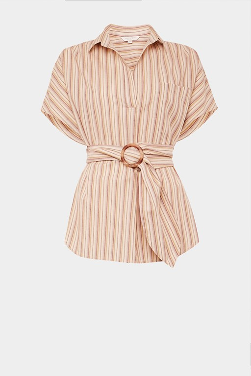 verve stripe popover sleeveless shirt