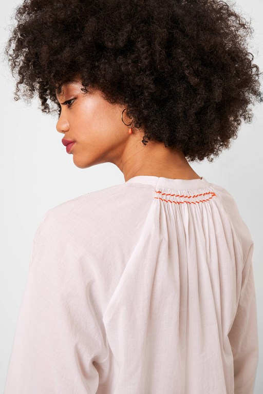 badrai cotton voile popover blouse