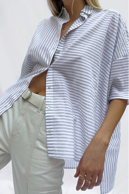 Aashi Oversized Short Sleeve Shirt