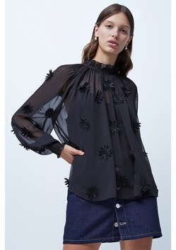 Aziza Lace Floral Applique Top