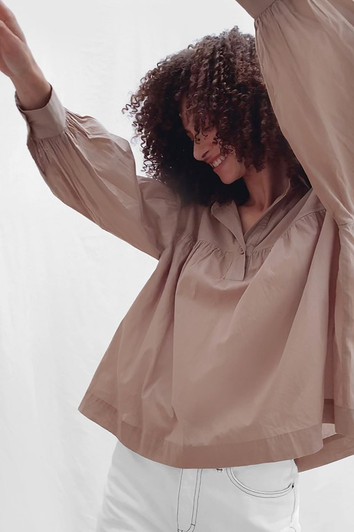 dana cotton voile smock top