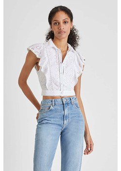 Duna Broderie Lawn Cropped Top