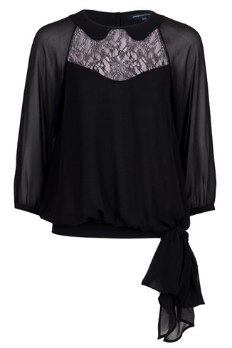 Edith Lace Tie Detail Top