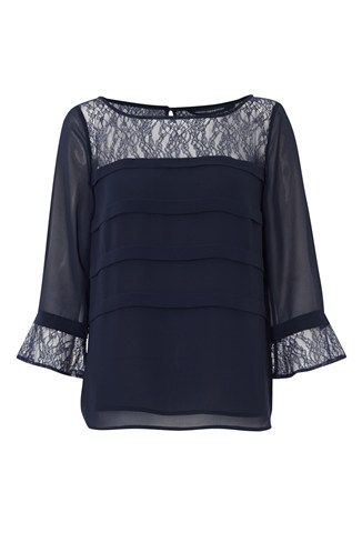 Edith Lace Boat Neck Top