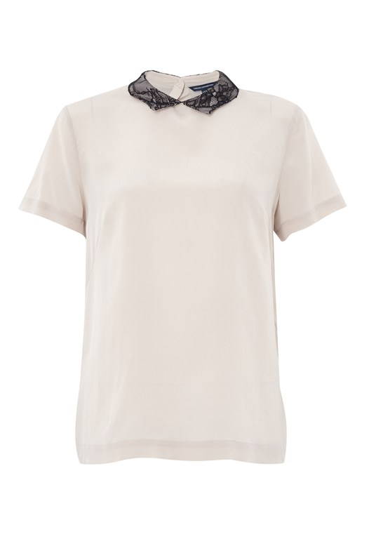 Lucy Lace Cap Sleeve Shirt