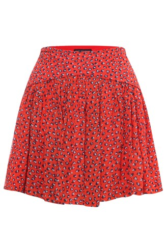Calypso Flower Flared Mini Skirt
