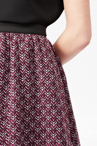 Acid Chevron Flared Skirt