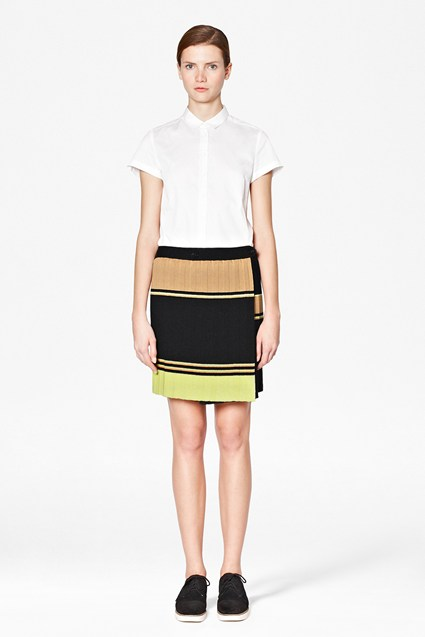 Madge Knit Pleated Skirt