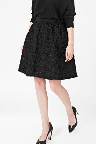 Rochelle Ribbon Flared Skirt