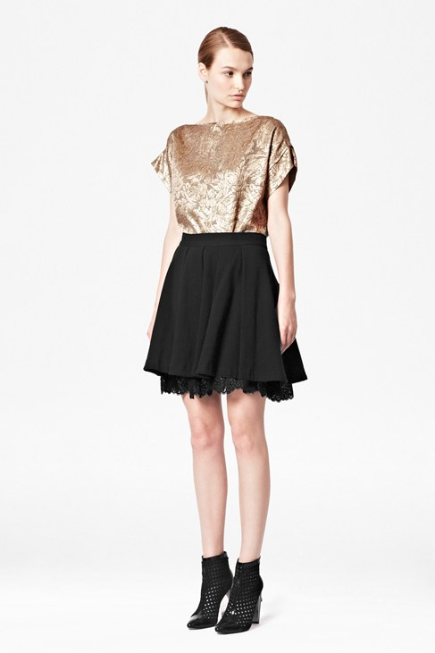 Kelby Lace Trim Skirt