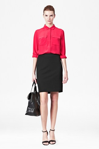 Uni Stretch Pencil Skirt