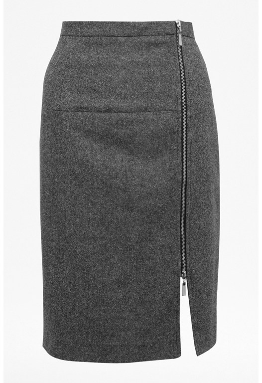 Pepper Tweed Zip Skirt