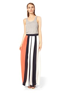 Medina Striped Maxi Skirt