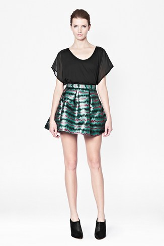 Siberian Jacquard Flared Skirt