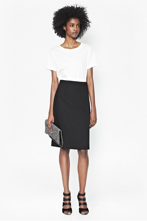 Whisper Ruth Split Front Skirt