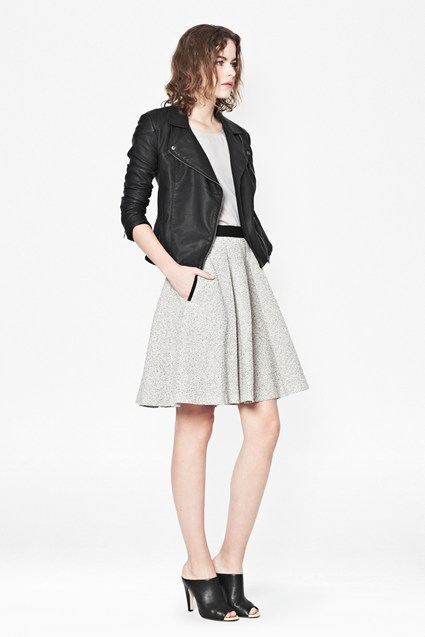 Salt and Pepper Flared Skirt