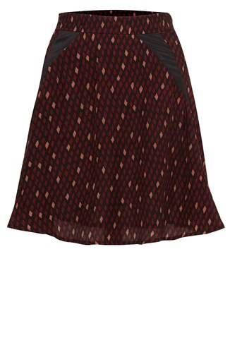 Winter Diamond Flared Skirt