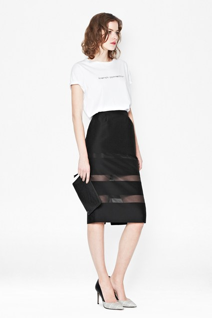 Wind Jammer Stripe Pencil Skirt