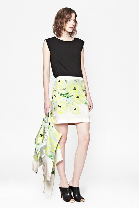 Holiday Poppy Cotton Skirt