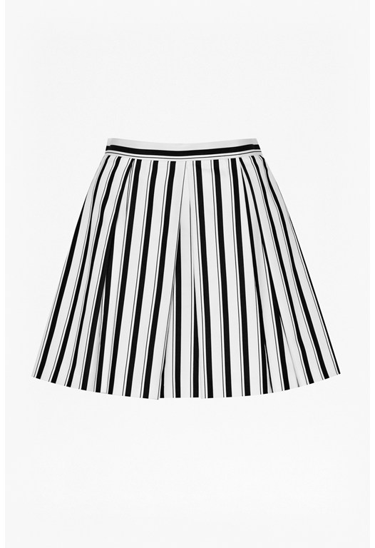 Disco Flare Striped Skirt