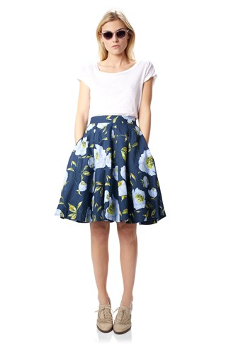 Spring Bloom Flared Skirt
