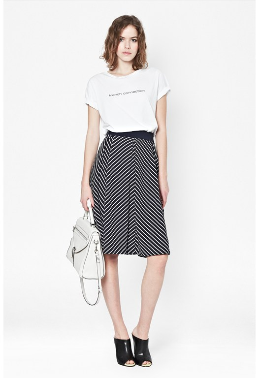 Suki Stripe Midi Skirt