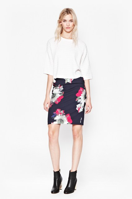 Wilderness Bloom Pencil Skirt