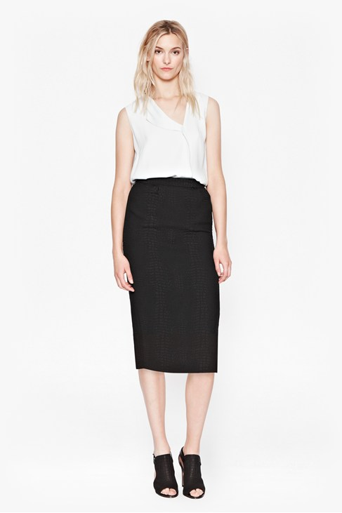 Croc Luxe Pencil Skirt