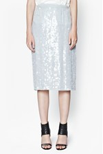 Looks Great With Winter Mist Sequinned Pencil Skirt