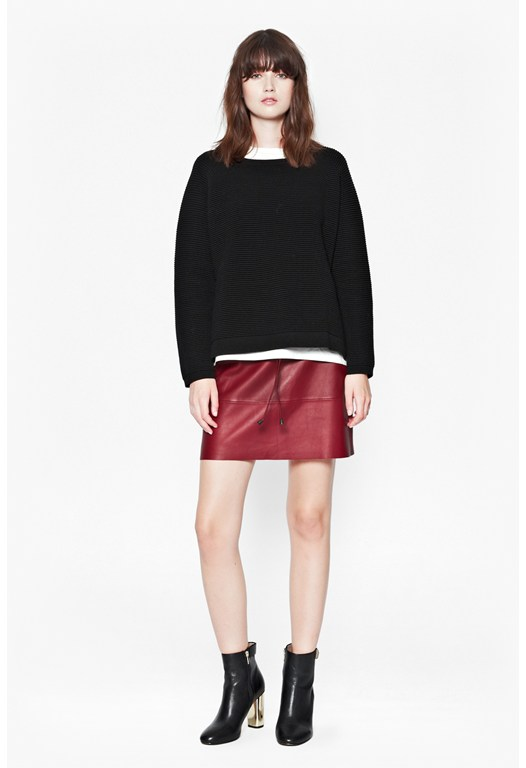 Luxe Leather Mini Skirt
