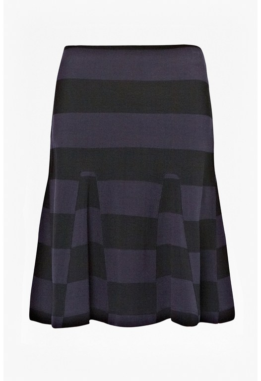 Manhattan Winter Striped Skirt