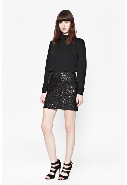 Cosmic Sparkle Mini Skirt
