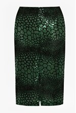 Looks Great With Croc Flock Textured Pencil Skirt