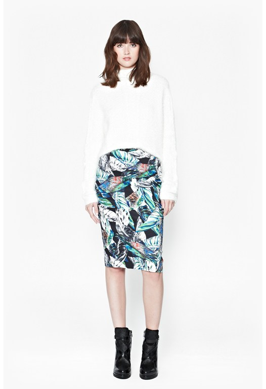 Calliope Printed Pencil Skirt