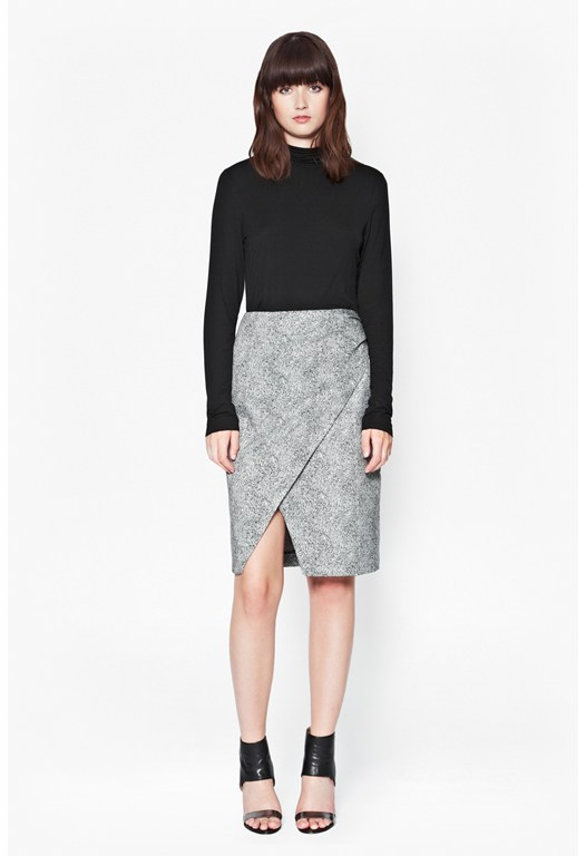 Powdered Pepper Crossover Skirt