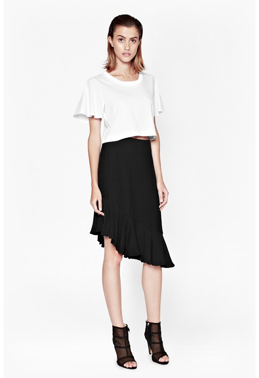 Downtown Crepe Asymetric Skirt