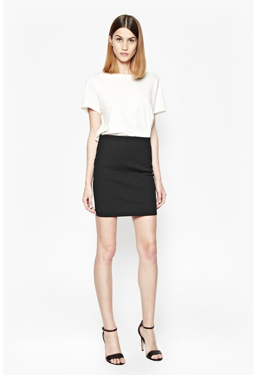 Tracks Stretch Bodycon Mini Skirt