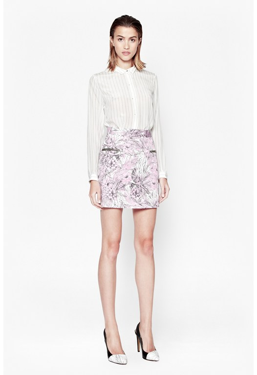 Flight Of Fancy Floral Skirt