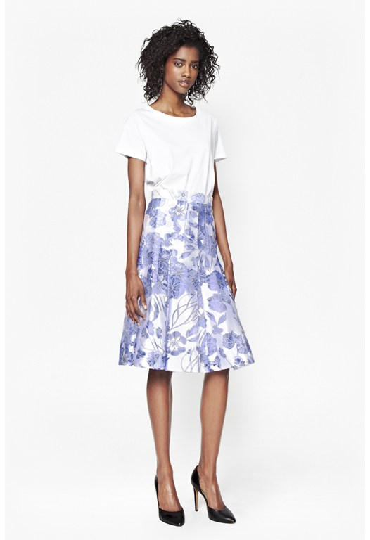Water Garden Sheer Skirt