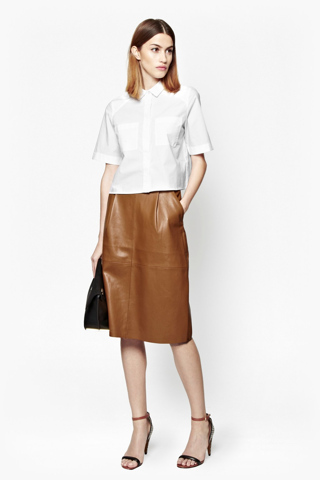 Patrice faux leather skirt sale french connection