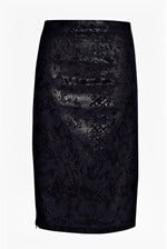 Looks Great With Cobra Foil Pencil Skirt