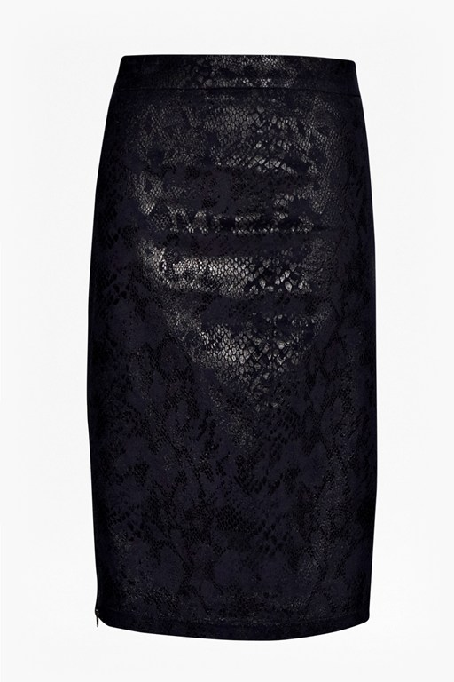 Complete the Look Cobra Foil Pencil Skirt
