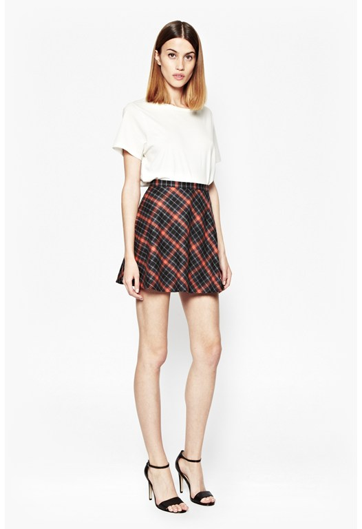 Waterfall Tartan Skater Skirt