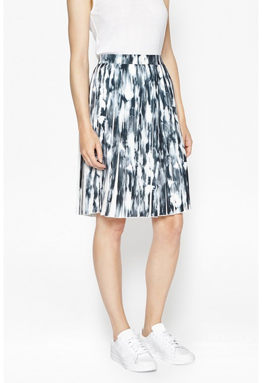 Record Ripple Pleated Skirt