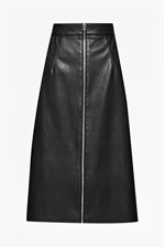 Looks Great With Atlantic Faux Leather Midi Skirt