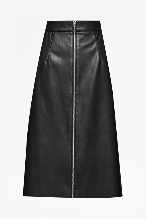 Complete the Look Atlantic Faux Leather Midi Skirt