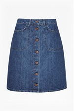 Looks Great With Mia Denim Button Through Skirt