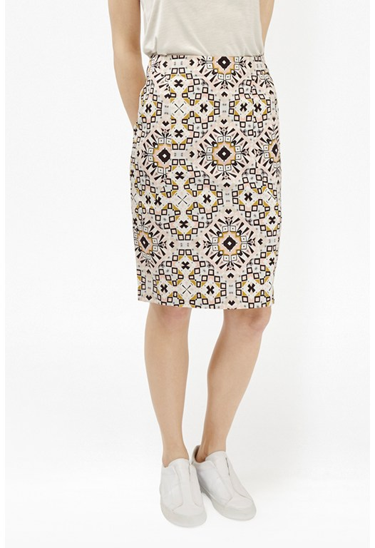 Electric Mosaic Pencil Skirt